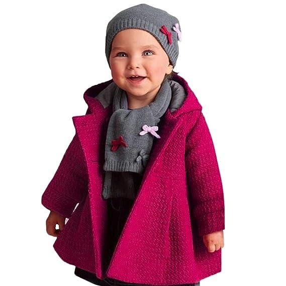 Mädchen Kinder Baby Langarm Wollmantel Winterjacke Jacke Parka Mantel Umhang Top