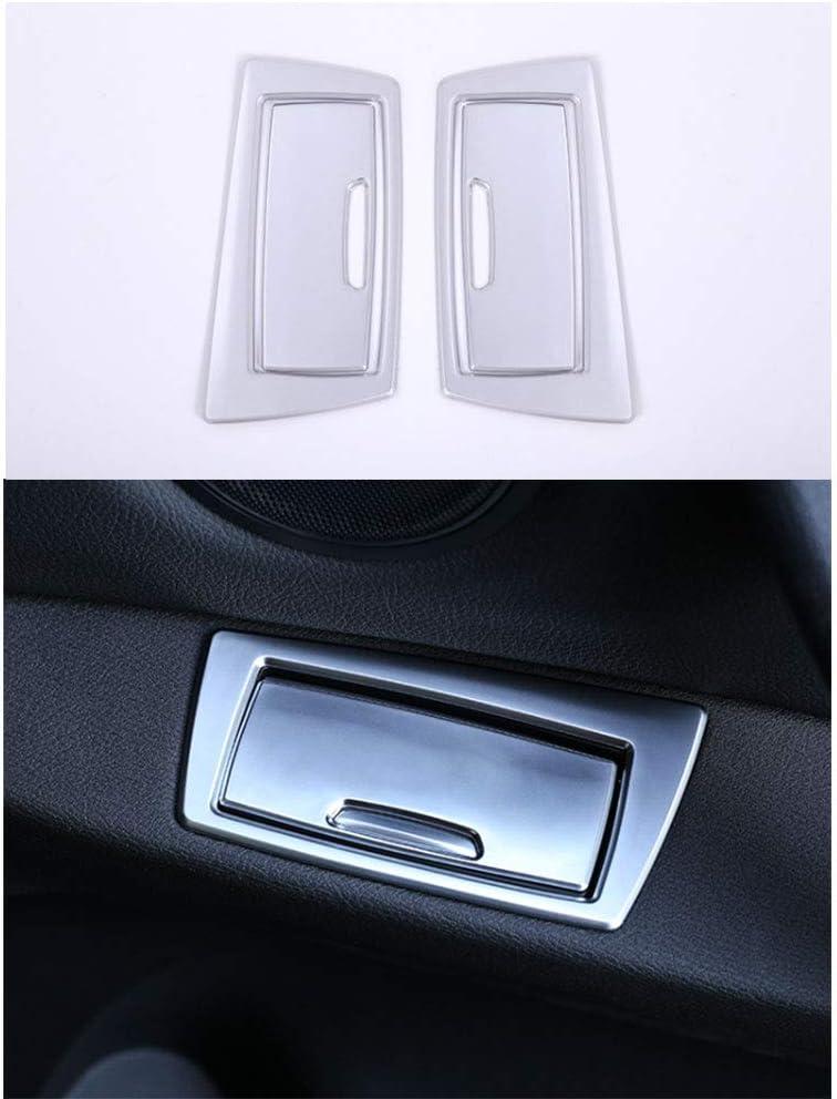 4PCS Car Door Ashtray Sequins Cover Trim For BMW X1 F48 2016-2019 ABS Pine grain