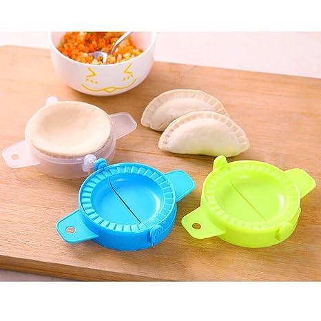 Tarta de masa de Dumpling Maker, kemilove 3 pc juego de prensa Ravioli Pastelería Dumpling