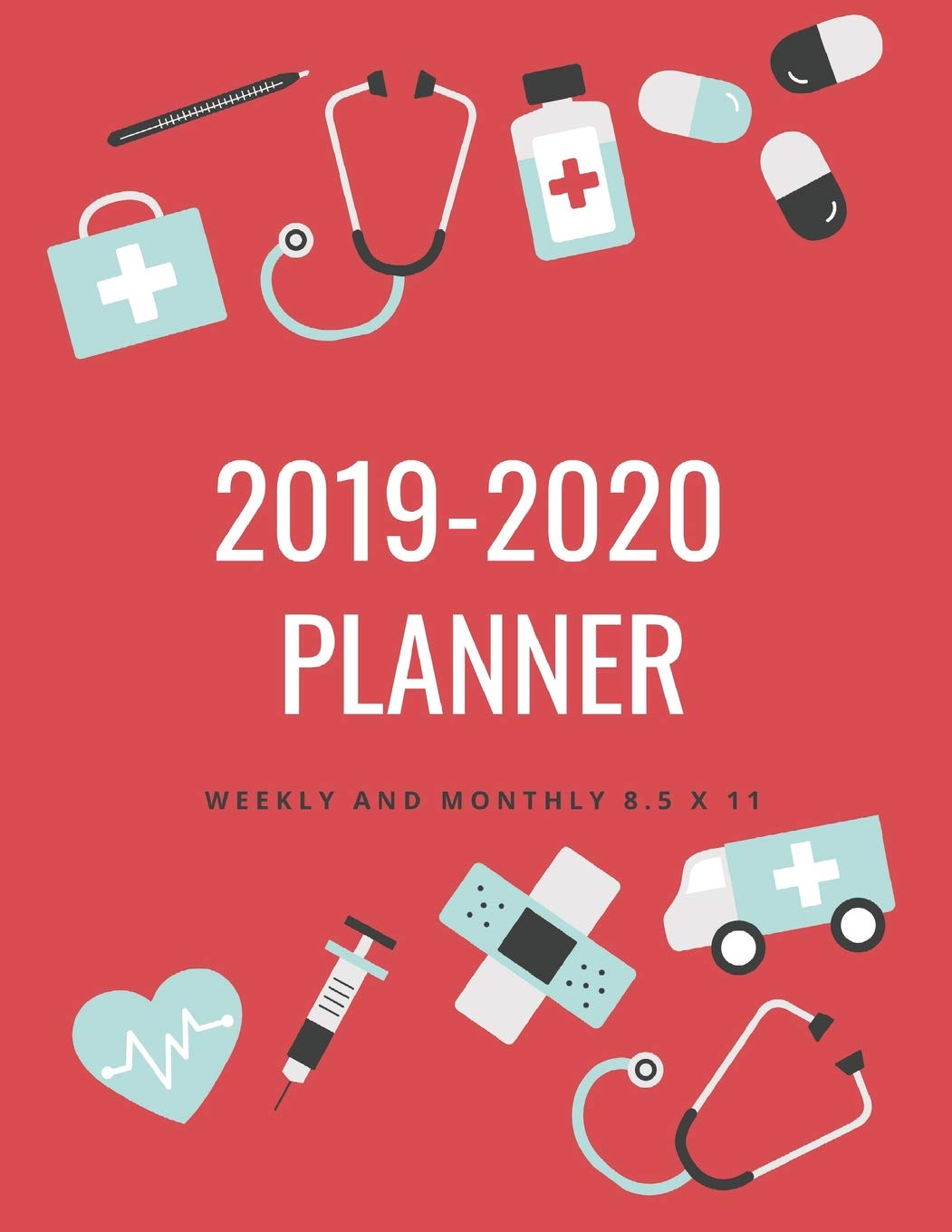 2020 Year In Review.2019 2020 Planner Weekly And Monthly 8 5 X 11 Nurse Theme