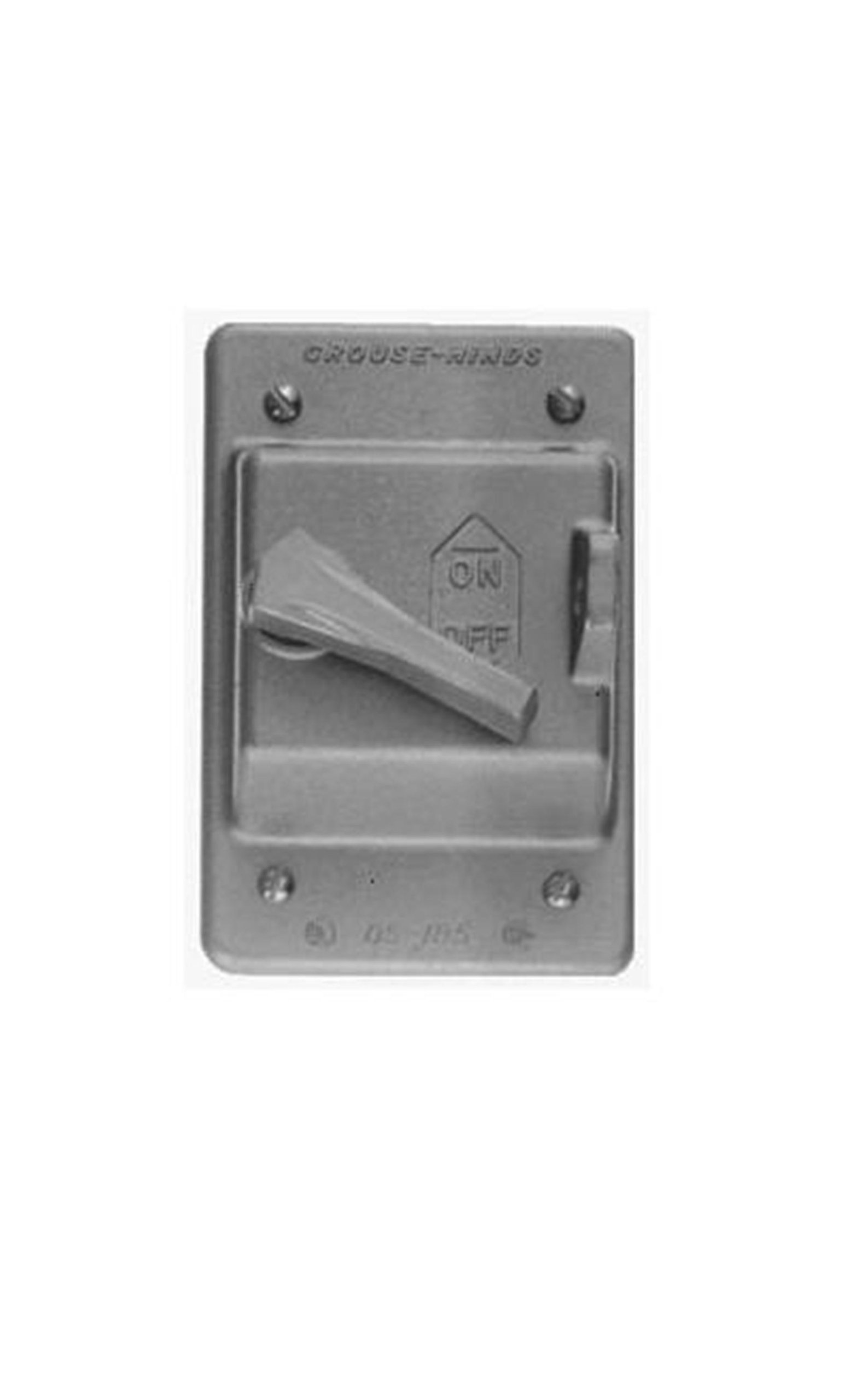 Crouse-Hinds DS185 Die Cast Aluminum Raintight Cover with Locking Arrangement by Crouse-Hinds