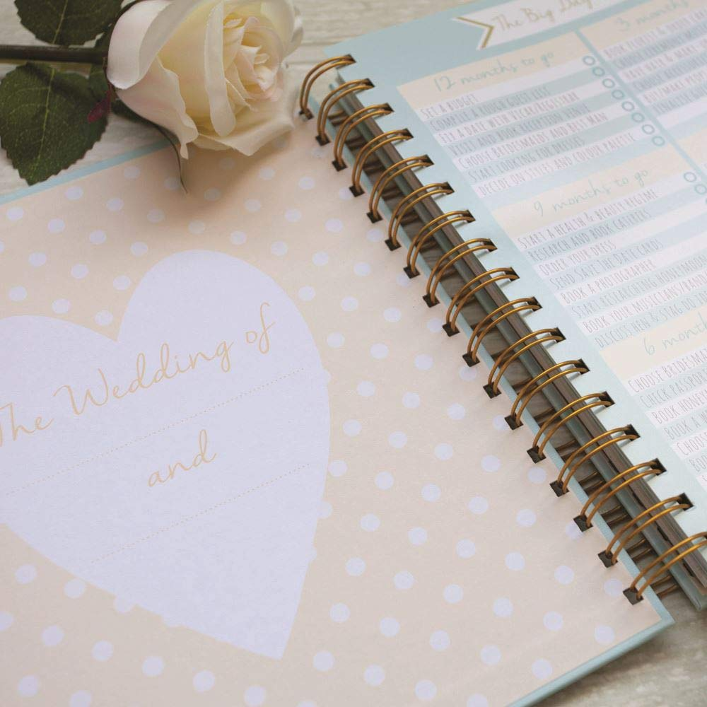 Wedding planner – Duck Egg Blue – Perfect Compromiso Gift with Sections, listas de and Pockets for organising a wedding by Rachel Ellen
