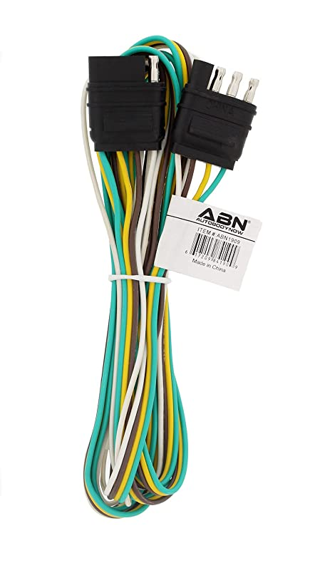 61n3KD%2BSPnL._SY790_ amazon com abn trailer wire extension, 8' foot, 4 way 4 pin plug Wiring Harness Diagram at webbmarketing.co