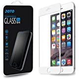 iPhone 6 Plus 5.5 Screen Protector - JOTO Apple iPhone 6+ Full Screen Tempered Glass Screen Protector Film, Edge to Edge Premium Protection Screen Cover Saver [Crystal Clear, 9H+ hardness Scratch Resistant, Anti-fingerprint O