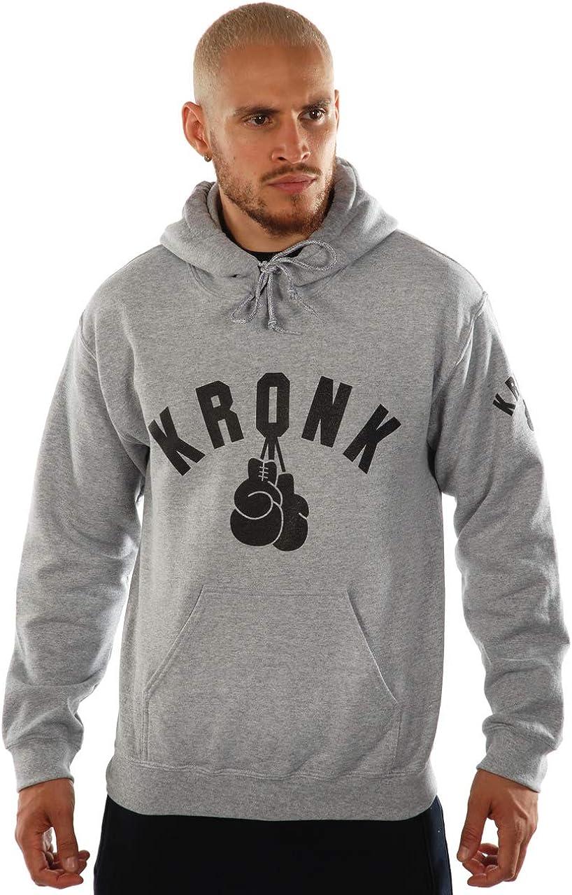 KRONK un Color Guantes de Boxeo Sudadera con Capucha Regular para Hombre