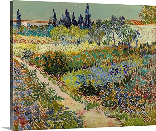 Vincent (1853-1890) van Gogh Premium Thick-Wrap Canvas Wall Art Print entitled Garden At Arles, 1888 30
