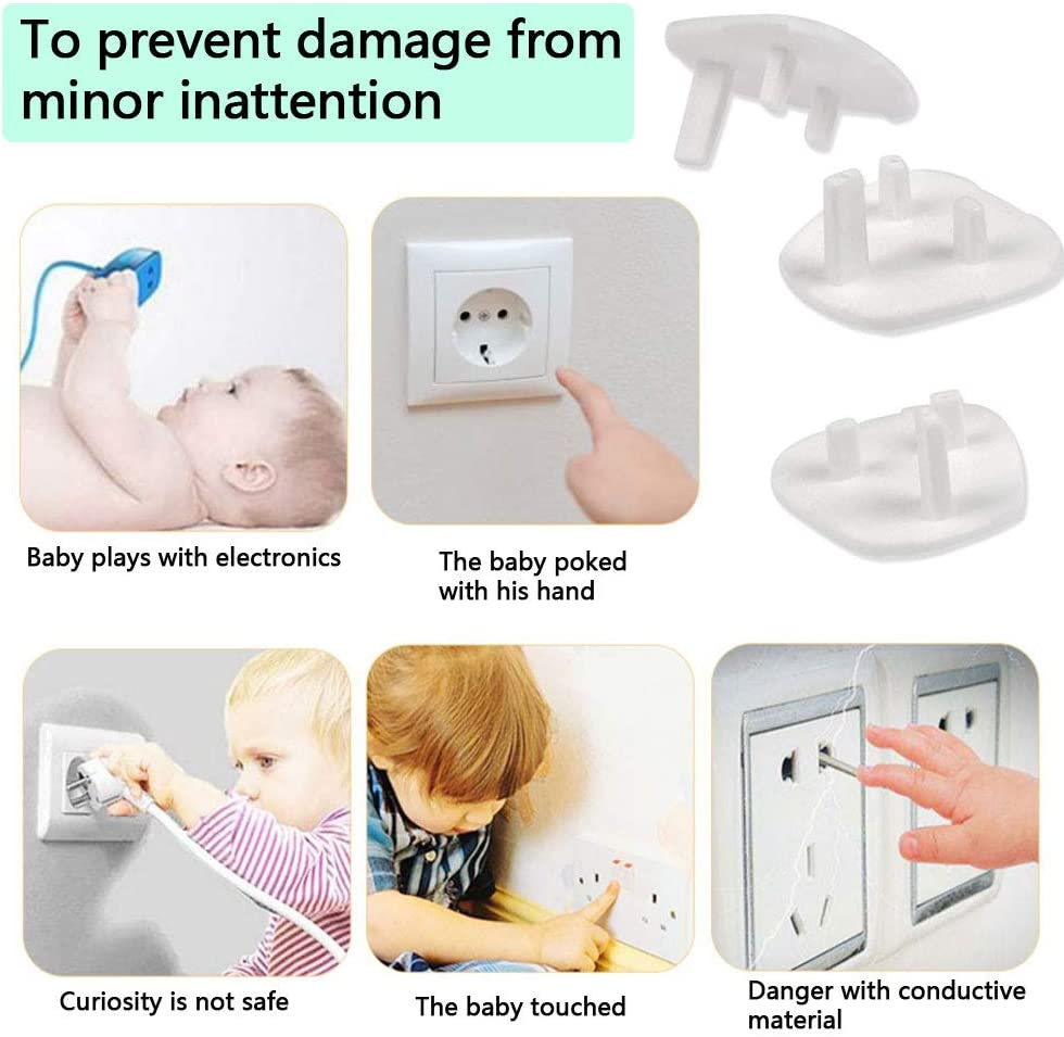 3 Pin Plug Socket Child Proofing UK Socket Outlet Plugs Protector for Home and School DODUOS Child Safety Plug Socket Covers 25PCS Baby Proof Electrical Socket Covers Caps Socket Protection Guard