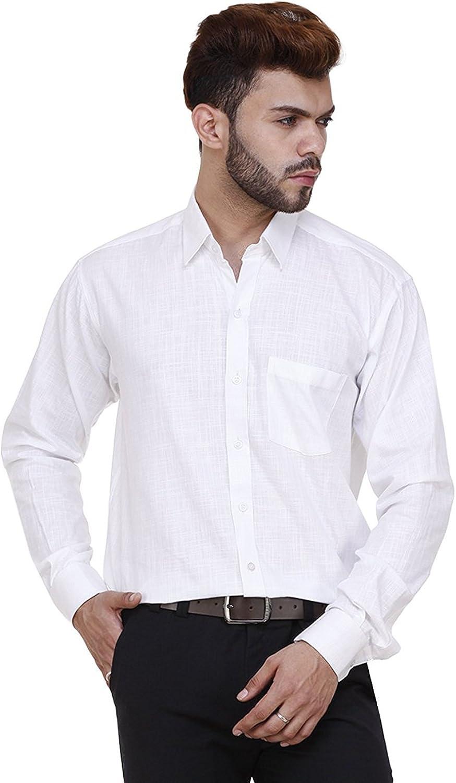 ZARKONS Mens Formal Cotton Shirt
