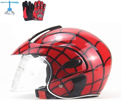 Zjra Kinder Motorradhelm Fahrräder Helm Kinder Volles Gesichts Motorrad Roller Helm Für 2 8 Jahre Alt Jugend Jungen Und Mädchen Rot Küche Haushalt