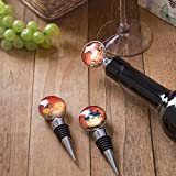 Sunbright Halloween Wine Bottle Stoppers Pumpkin Decoration for Holiday Party, Pass FDA Testing,Set of 3