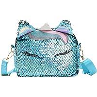 TENDYCOCO lentejuelas bolsos de unicornio bolsa de teléfono celular para niñas mujeres moda bolso cruzado lindo bolso de…
