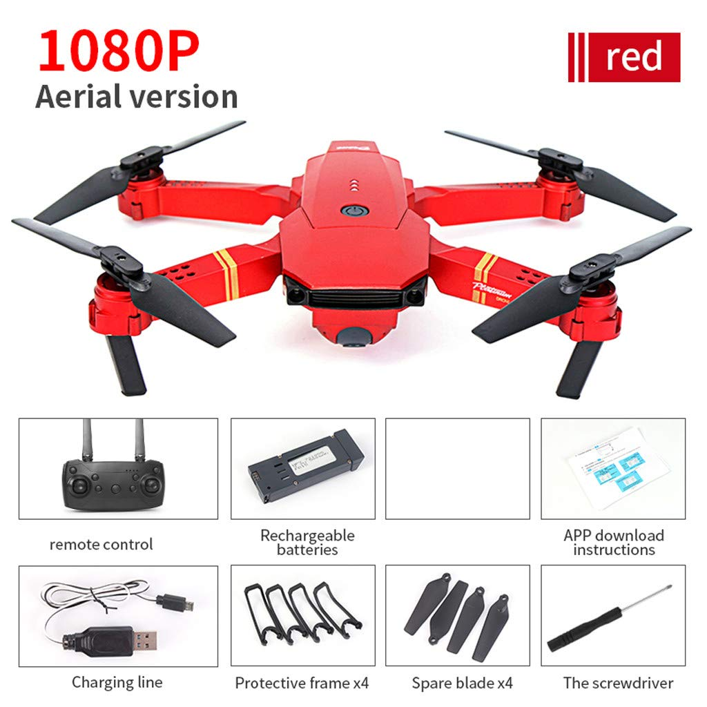 Likero E58 1080P/720P HD 2.0/5.0MP Camera WiFi FPV Foldable Quadcopter,Selfie Pocket RC Quadcopter,Stylish and Handsome Design,Best Gift for Child for Adult (B)