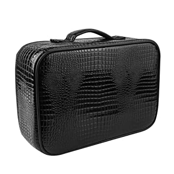2130e3757be2 Amazon.com   Professional Barber Tools Makeup Case Bag Leather Hair Salon  Hairdressers Styling Clipper Comb Scissors Storage Case