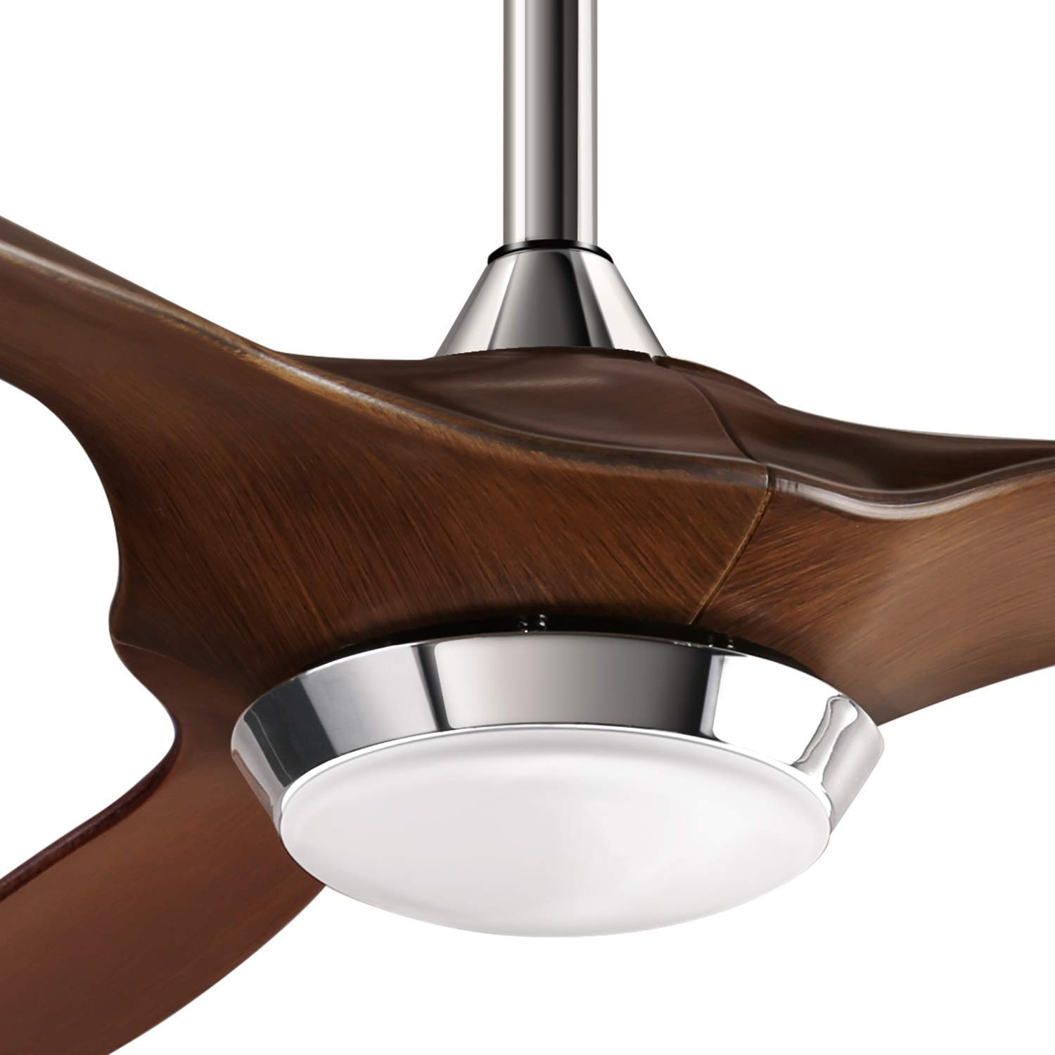 reiga 52-in Ceiling Fan with LED Light Kit Remote Control Modern Blades Noiseless Reversible Motor 6-speed, 3 color Temperature Switch hand-painted