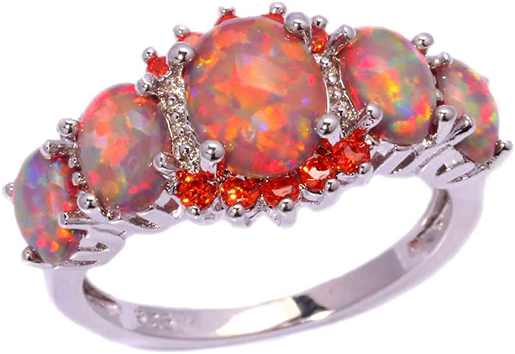 FF Fashion ring White Gold Filled Pink Created Sapphire Fine Jewelry for Women Wedding Rings