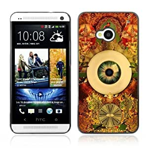 Designer Depo Hard Protection Case for HTC One M7 / Cool Psychedelic Eye & Pattern