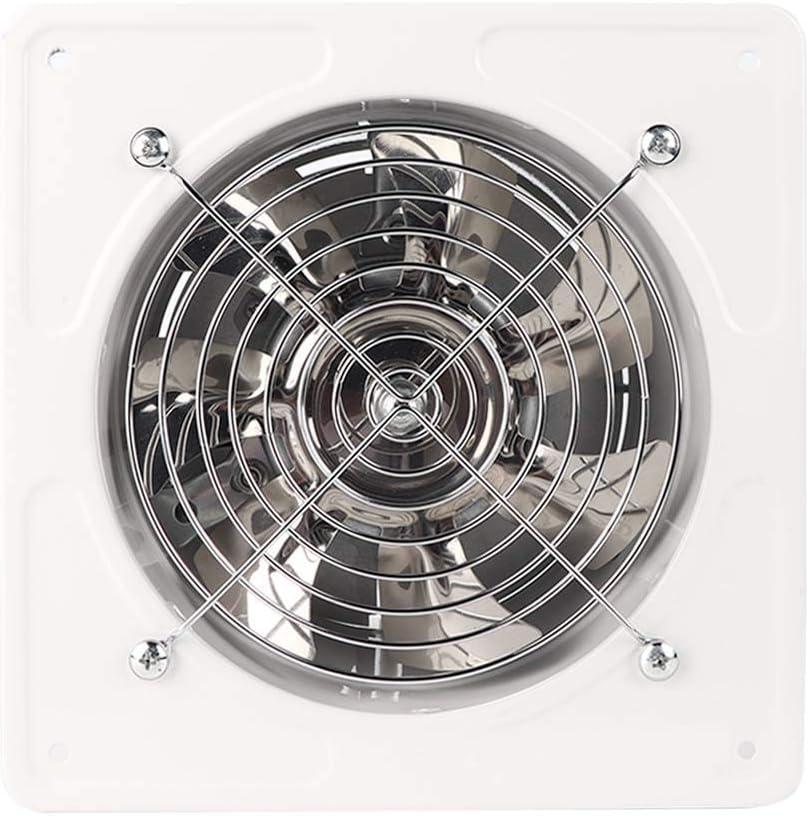 Extractor de aire, diámetro del orificio de perforación, 150 mm, extractor de aire, 40 W, ventilador de escape montado en la pared para el hogar, cocina, baño, garaje(blanco)