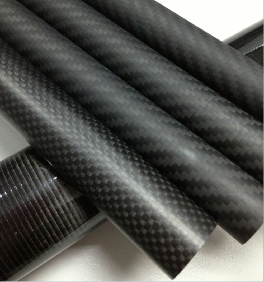 Abester 3K Matt Surface Carbon Fiber Tube ID 21mm x OD 23mm x 1000mm Roll Wrapped (1 Piece) by Abester
