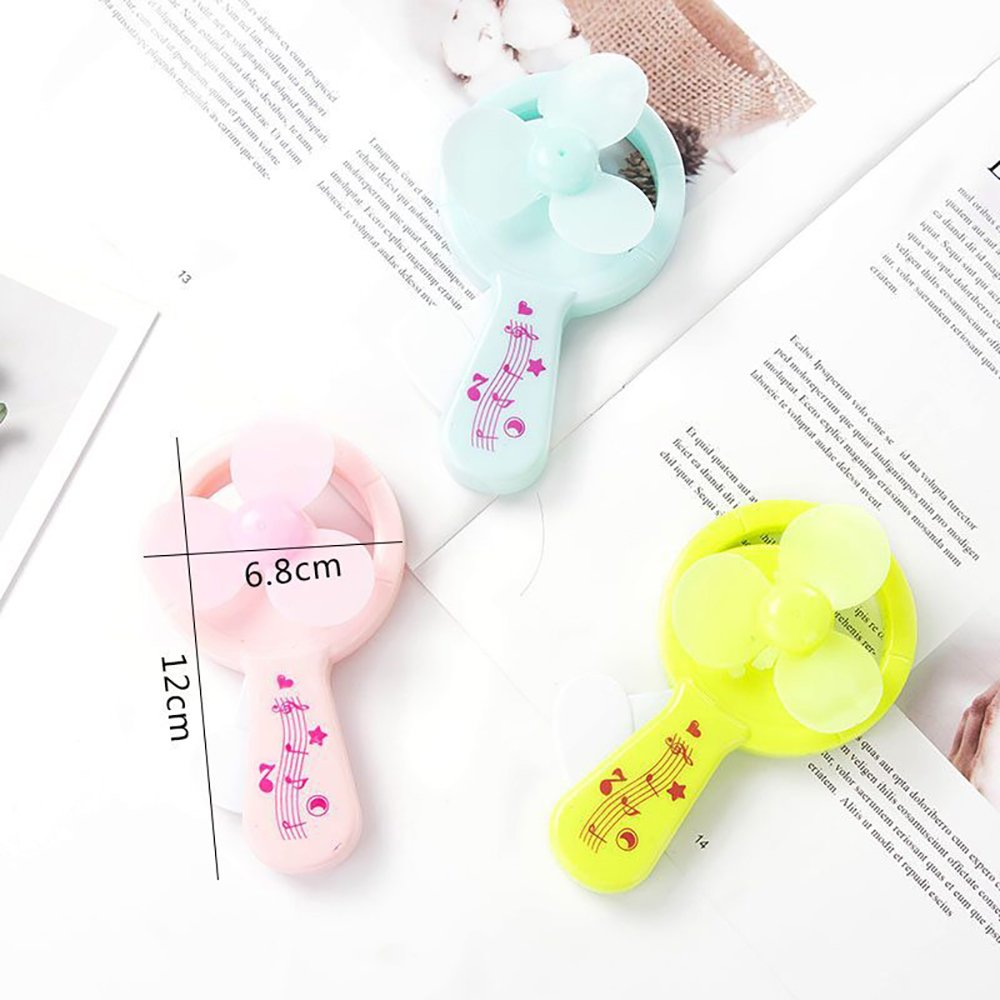sin bater/ía para refrigeraci/ón Manual de Prensa Ventilador de Dibujos Animados Mini Juguete Animal Colores Surtidos Hilai Mini Ventilador de Mano port/átil Mini Ventilador de Mano Manual