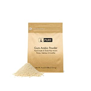 Gum Arabic (Acacia) Powder (4 oz.) by Pure, Essential Ingredient for DIY Watercolor Paints, Craft Cocktails, Royal Icing, Ice Cream, and Much More