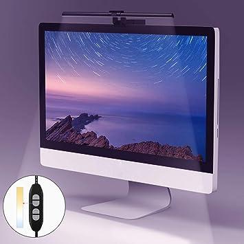 Quntis Lampara de luz LED para Pantalla Monitor Ordenador con ...