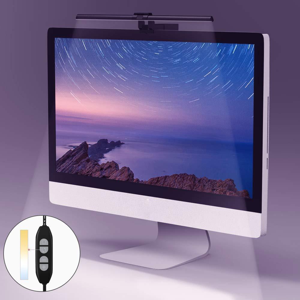 Quntis Lampara de luz LED para Pantalla Monitor Ordenador con alimentaci/ón USB con Brillo y Temperatura de Color Ajustable para el Cuidado de los Ojos