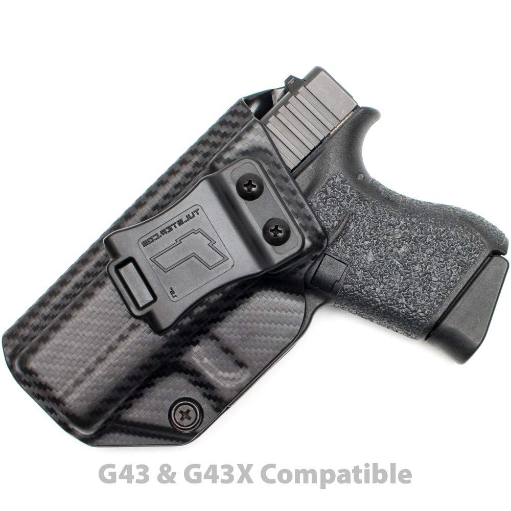 Tulster Glock 43/43X Holster IWB Profile Holster (Black Carbon Fiber - Left Hand)
