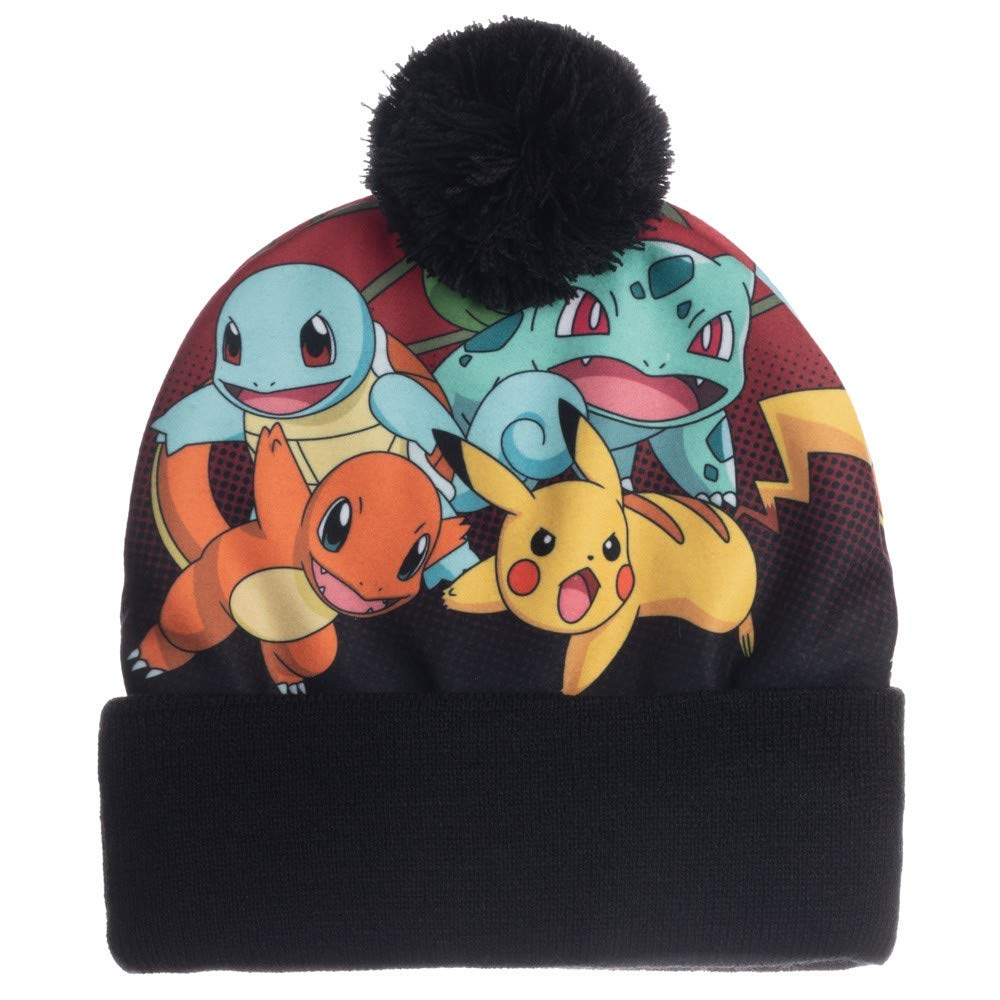 Squirtle and Bulbasaur Sublimated Beanie Toque bioworld Pokemon Pikachu Charmander