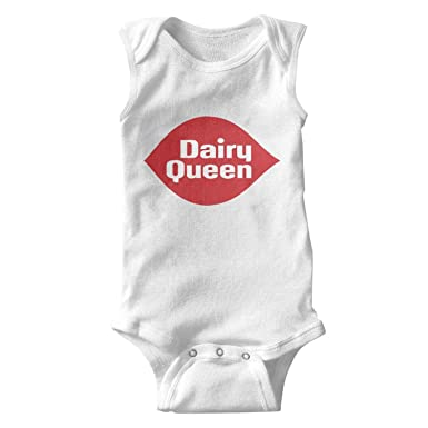 1ddd8675d JIAJIAJIAN Printing 100% Cotton Baby Boy Short Sleeve Onesies Dairy-Queen -Logo-