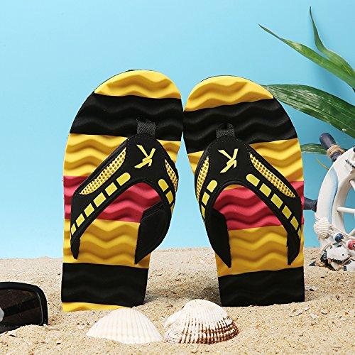 Pantofole Uomo Sandali Pantofole Yellow Sandali AIHUWAI Slip Flip Uomo Wear Sandali Sandali Flip Uomo Flip Summer q5ddt6xwZ
