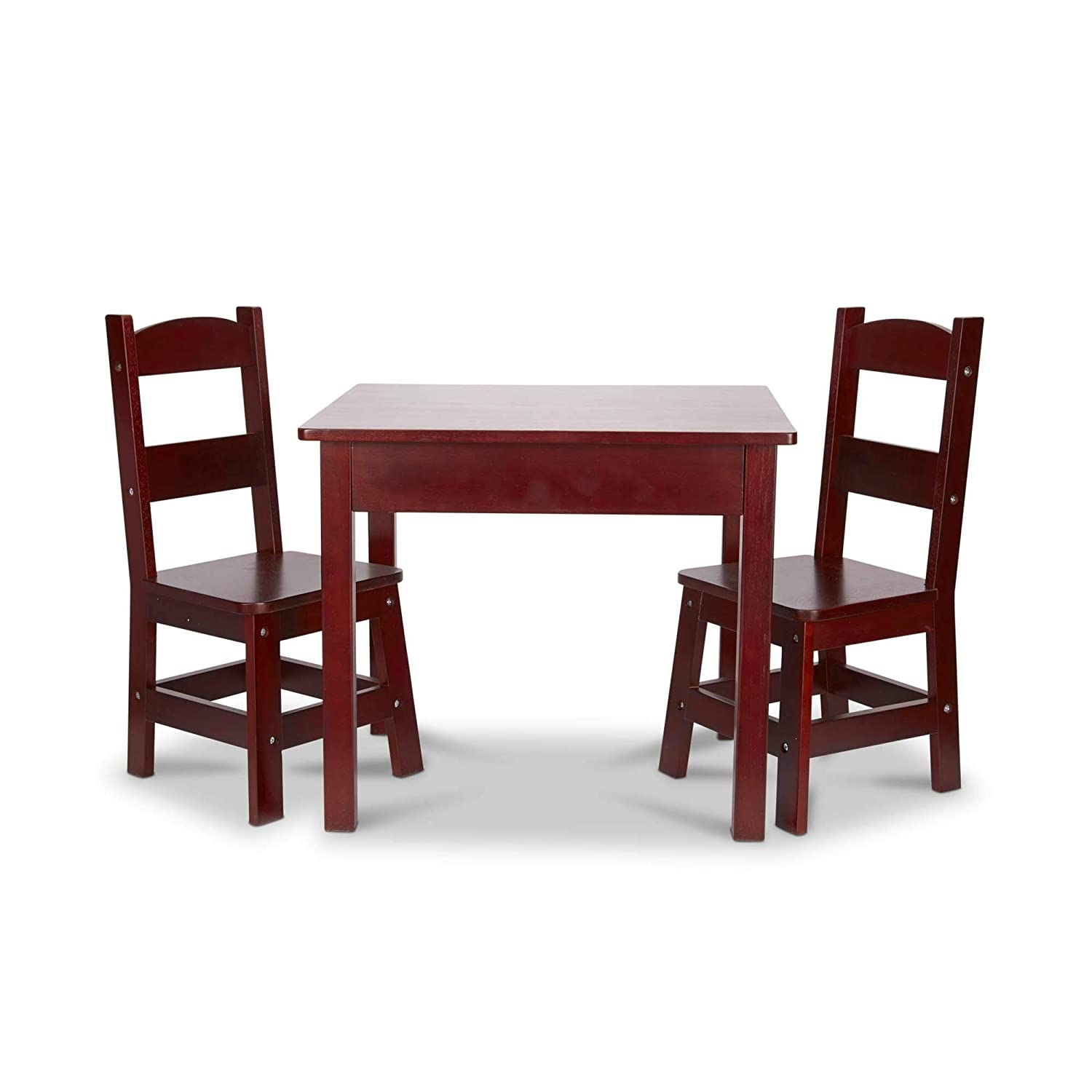 Melissa & Doug Wooden Table and Chairs Set- Espresso