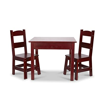 Amazon.com  Melissa   Doug Wooden Table and Chairs Set - Espresso ... acaac9166