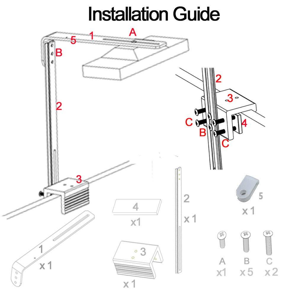 DSunY Accessory for Light -Single Arm LED Mounting Kit Bracket (Silver) by DSunY (Image #2)