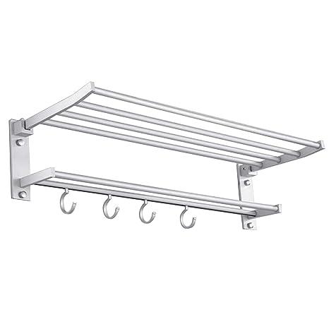 40 cm plegable montado en la pared espacio de aluminio toalla almacenamiento de almacenamiento estante estante