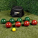 Tournament Pro Model Bocce Ball Set 107mm Balls- Professional Grade Full Set With Embroidered Travel Bag Resin Balls 2-4 Players- Perfect For Backyard, Picnics, Park Beaches Ans Leagues- Pure Joy