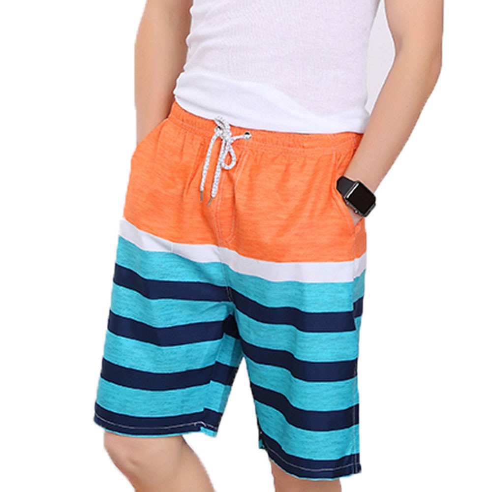 F/_Gotal Mens Swimming Trunks Quick Dry Board Shorts with Pockets Printed Casual Summer Beach Swimwear Surfing Shorts