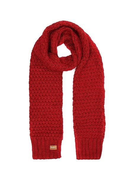 estilo atractivo estilo moderno fecha de lanzamiento: Pepe Jeans Bufanda Elma Rojo para Mujer U Rojo: Amazon.es ...