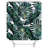 Bathroom Shower Curtain Ideas Uphome Palm Leaves Bathroom Shower Curtains, Customized Heavy-duty Polyester Fabric Kids Bathroom Curtains Ideas (72
