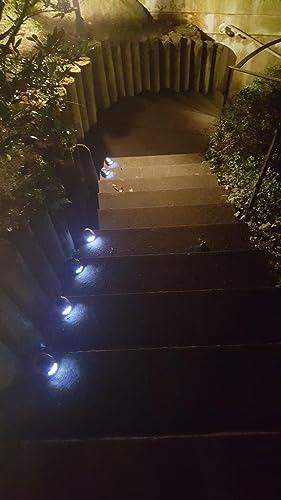 3 X LED percorso solare luci in effetto pietra con scale di Spiess ...