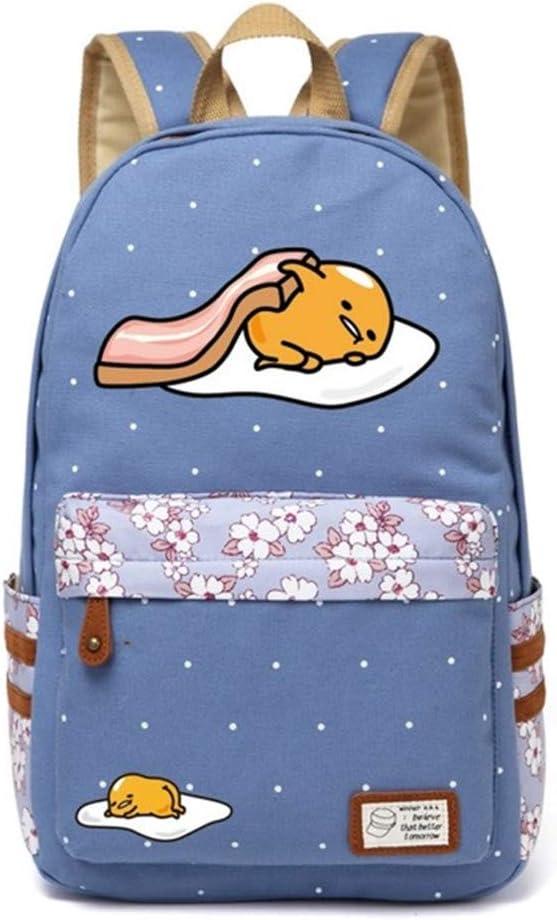 Siawasey Gudetama Lazy Egg Backpack Cartoon Laptop Daypack Shoulder School Bag (A7)