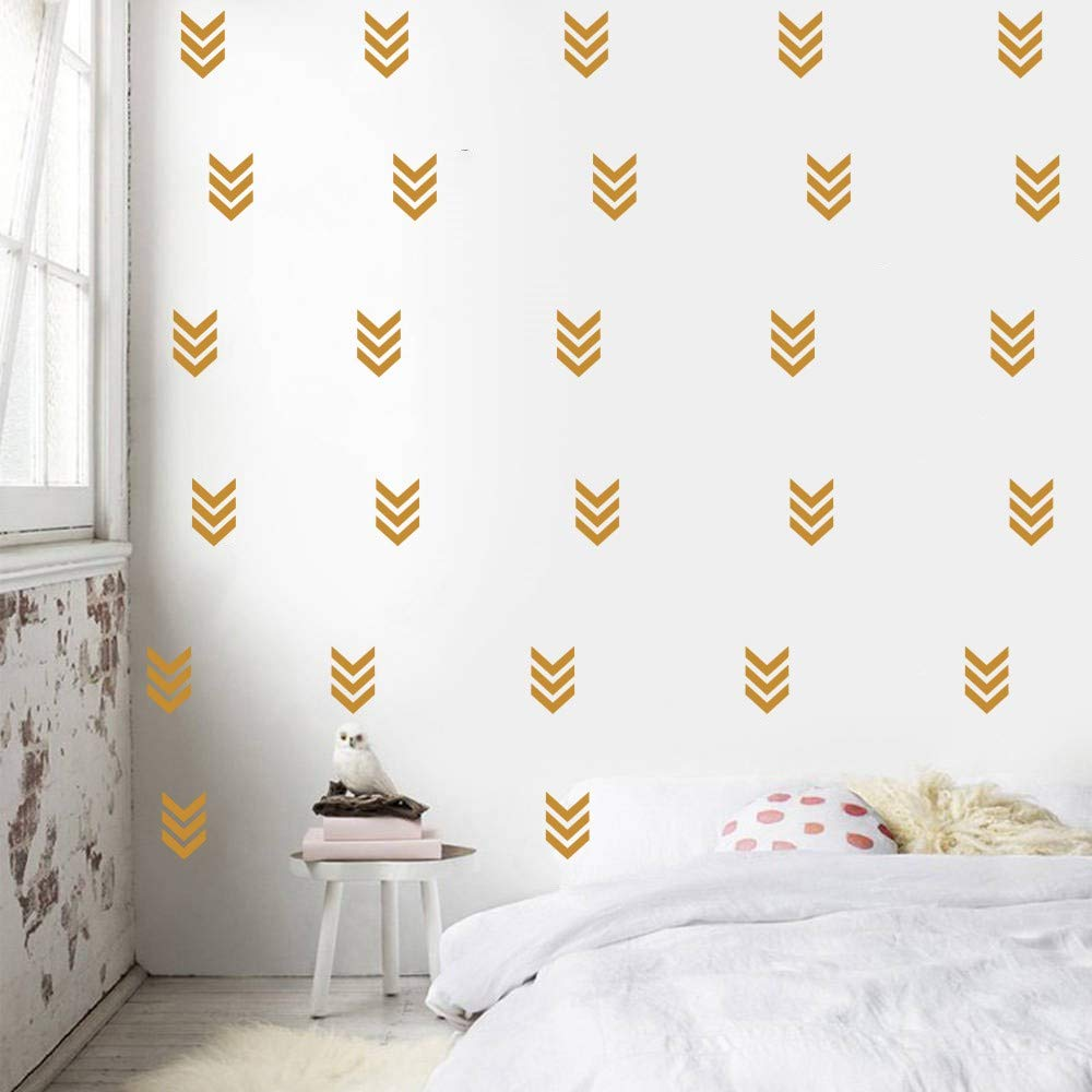 32 Simple Arrow Decals Home Decoration Arrow Pattern Wall Sticker For Kids Nursery Bedroom Decor Stickers Baby Decal Removable Wall Decal (BLACK) YOYOYU