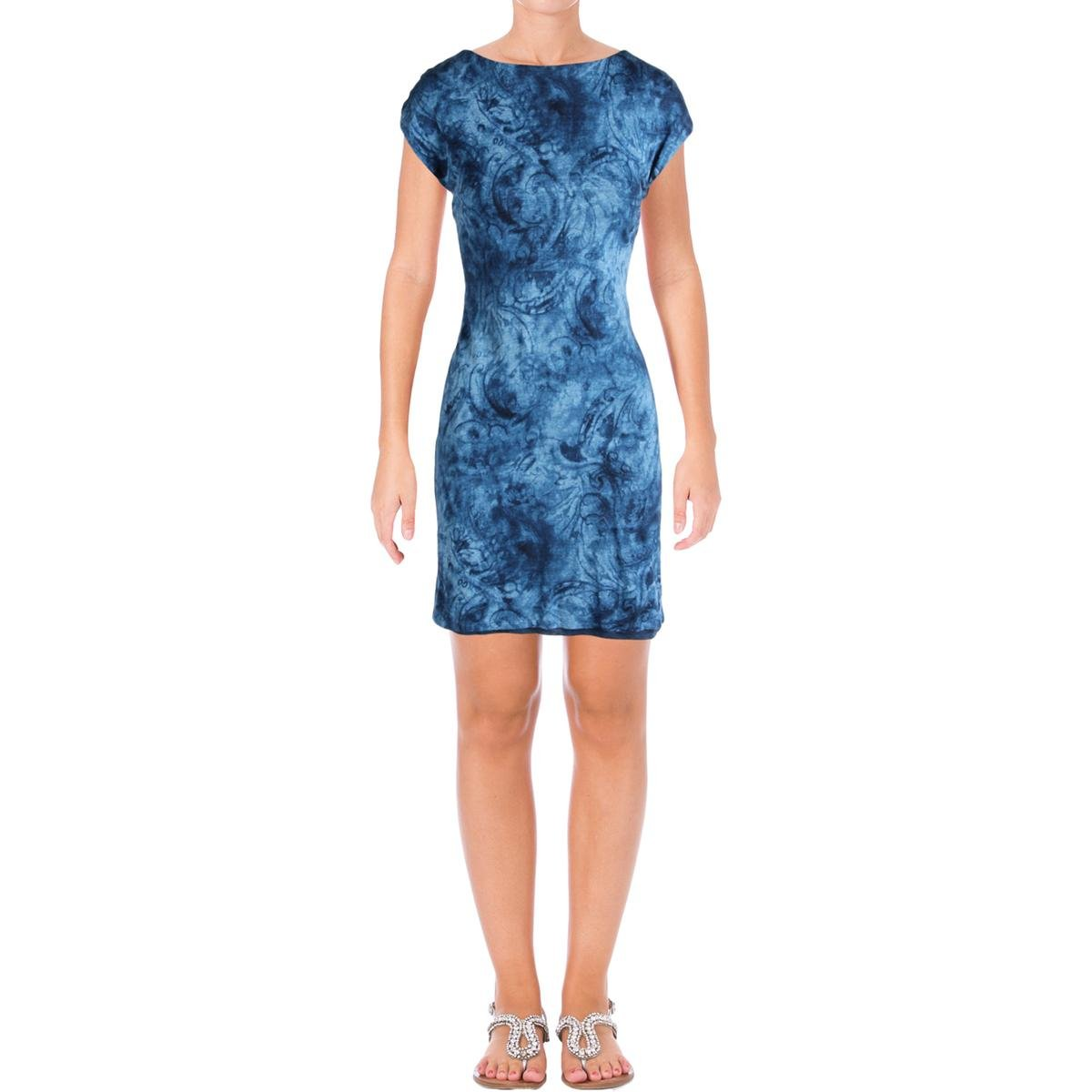 9d32322500d Lauren Ralph Lauren Women s Petite Jersey Shift Dress at Amazon Women s  Clothing store