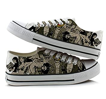 One Piece Anime Cosplay Shoes Canvas Shoes Sneakers Colourful Low Cut 3