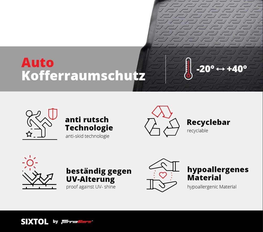 Copertura Portabagagli Antimacchia SIXTOL Vasca Bagagliaio Auto in Plastica per Renault Kangoo II Compact AntiGraffio Copri Bagagliaio per Cani Rigido