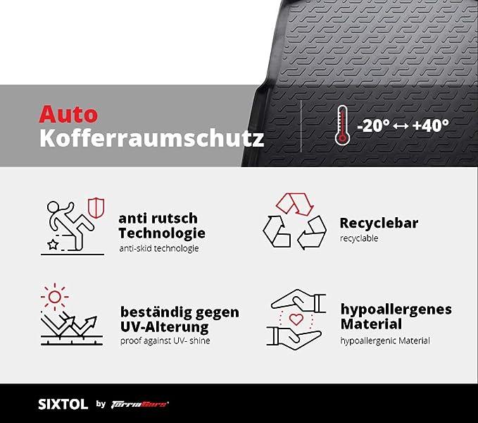 Sixtol Auto Kofferraumschutz Für Die Toyota Aygo Maßgeschneiderte Antirutsch Kofferraumwanne Für Den Sicheren Transport Von Einkauf Gepäck Und Haustier Auto