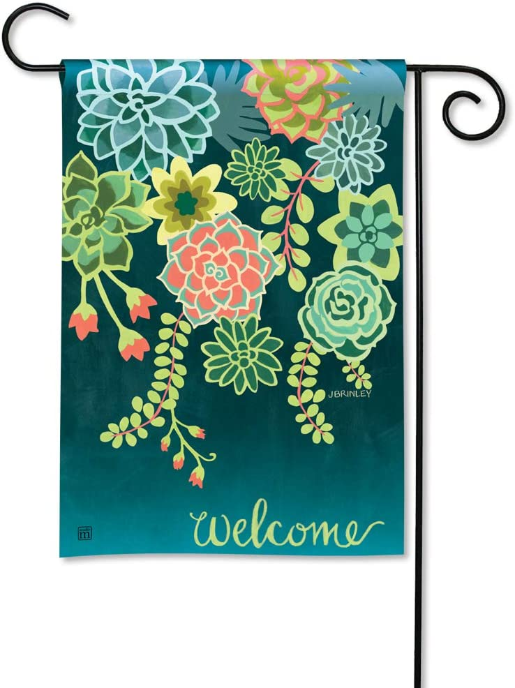 BreezeArt Studio M Boho Succulents Decorative Spring Summer Garden Flag – Premium Quality, 12.5 x 18 Inches
