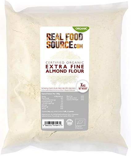 RealFoodSource Certified Organic Extra Fine High Protein Almond Flour  (1KG): Amazon.co.uk: Grocery