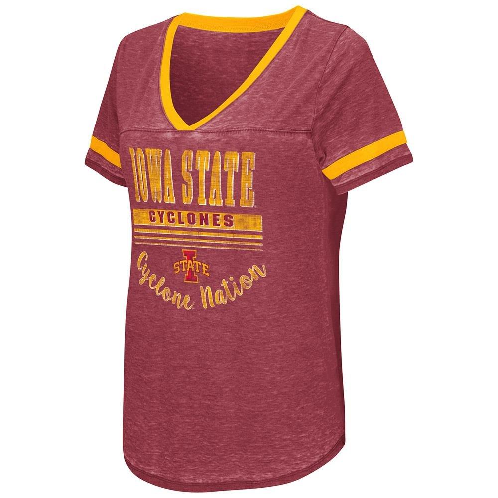 Womens Iowa State Cyclones半袖Teeシャツ B079592KLG  Large