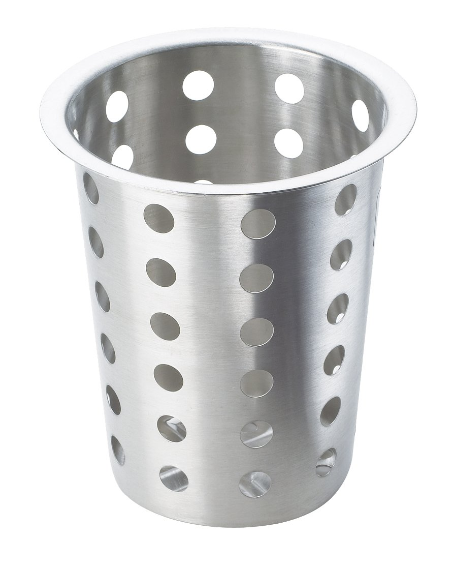 Perforated Silverware Cylinder Stainless Steel