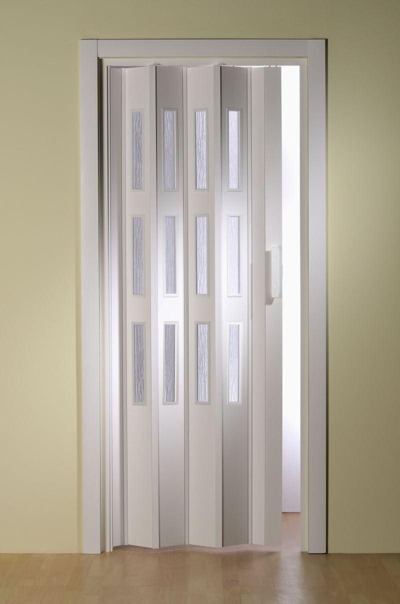 Kunststoff-Falttür Luci Fb. weiß B 18,18 x H 18 cm mit 18 Fensterreihen